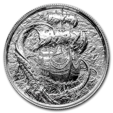 Elemetal 2 Oz Privateer Ultra High Relief Silver Round
