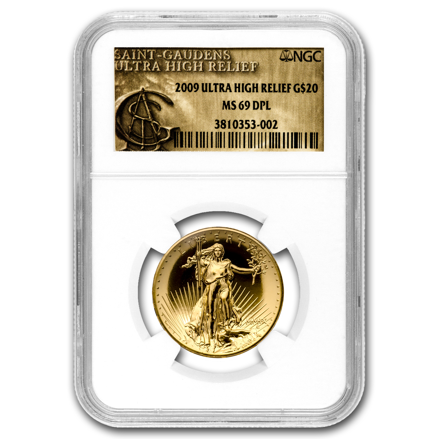 2009 Ultra High Relief Double Eagle MS-69 DPL NGC (Gold Label)