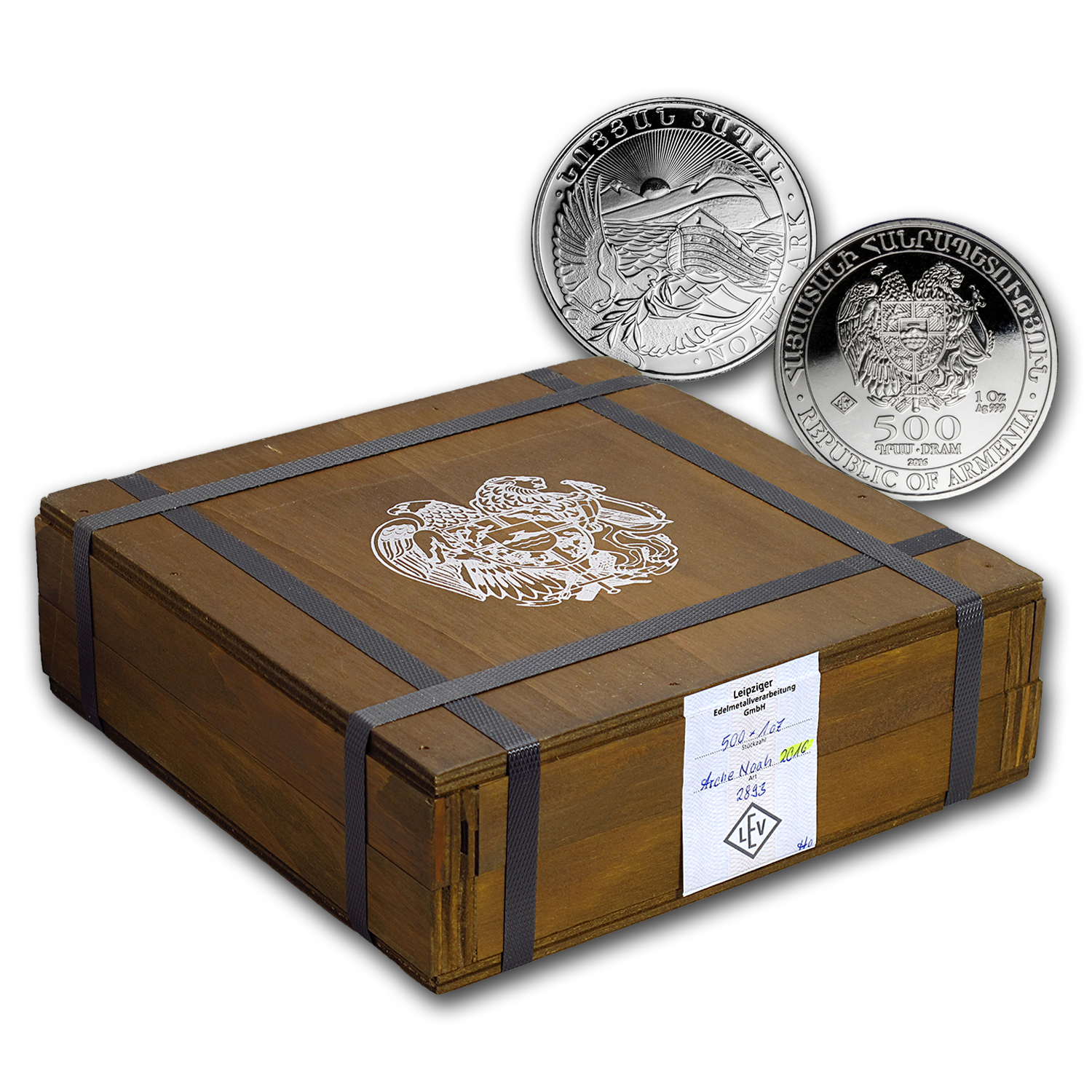 2016 Armenia 500-Coin 1 oz Silver Noah's Ark (Sealed Box)