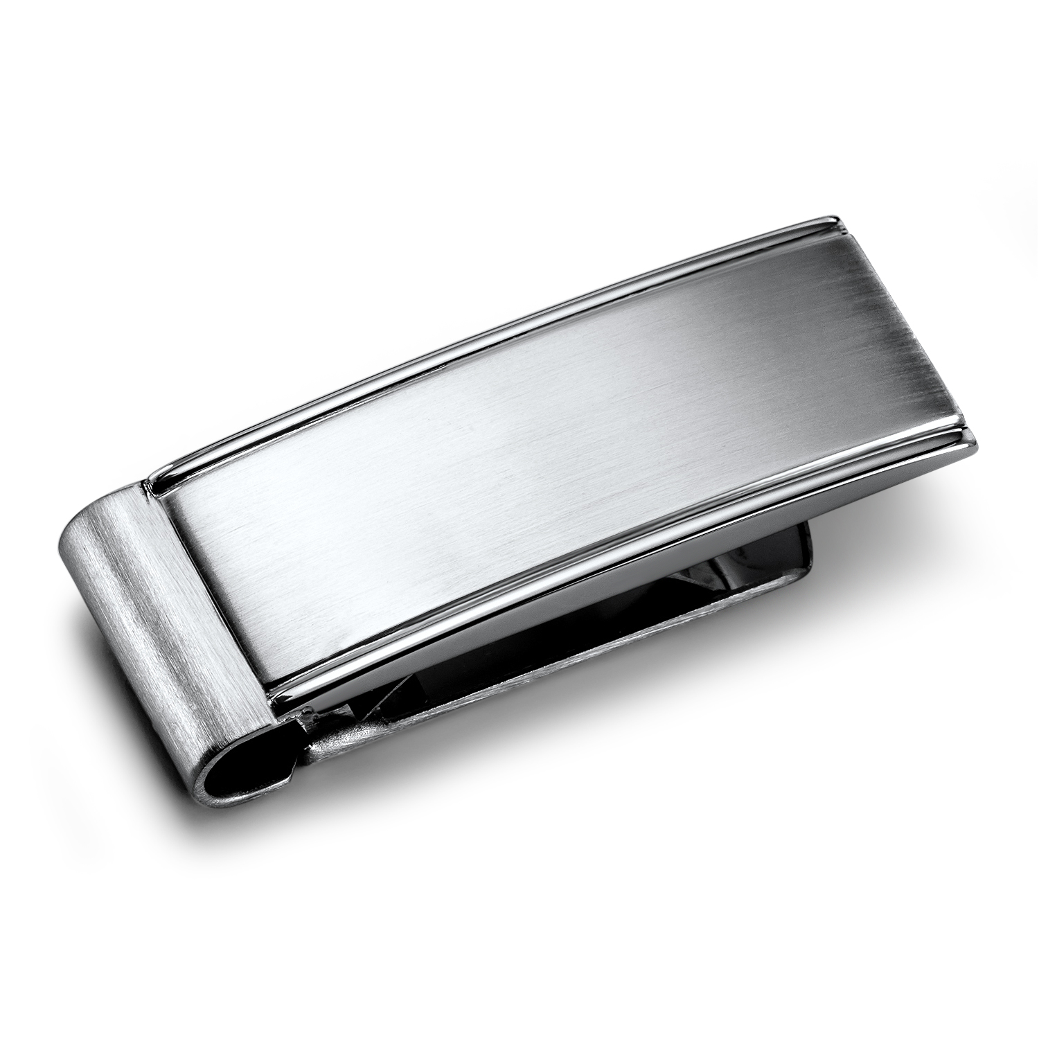 Stainless Steel Brushed & Polished Money Clip