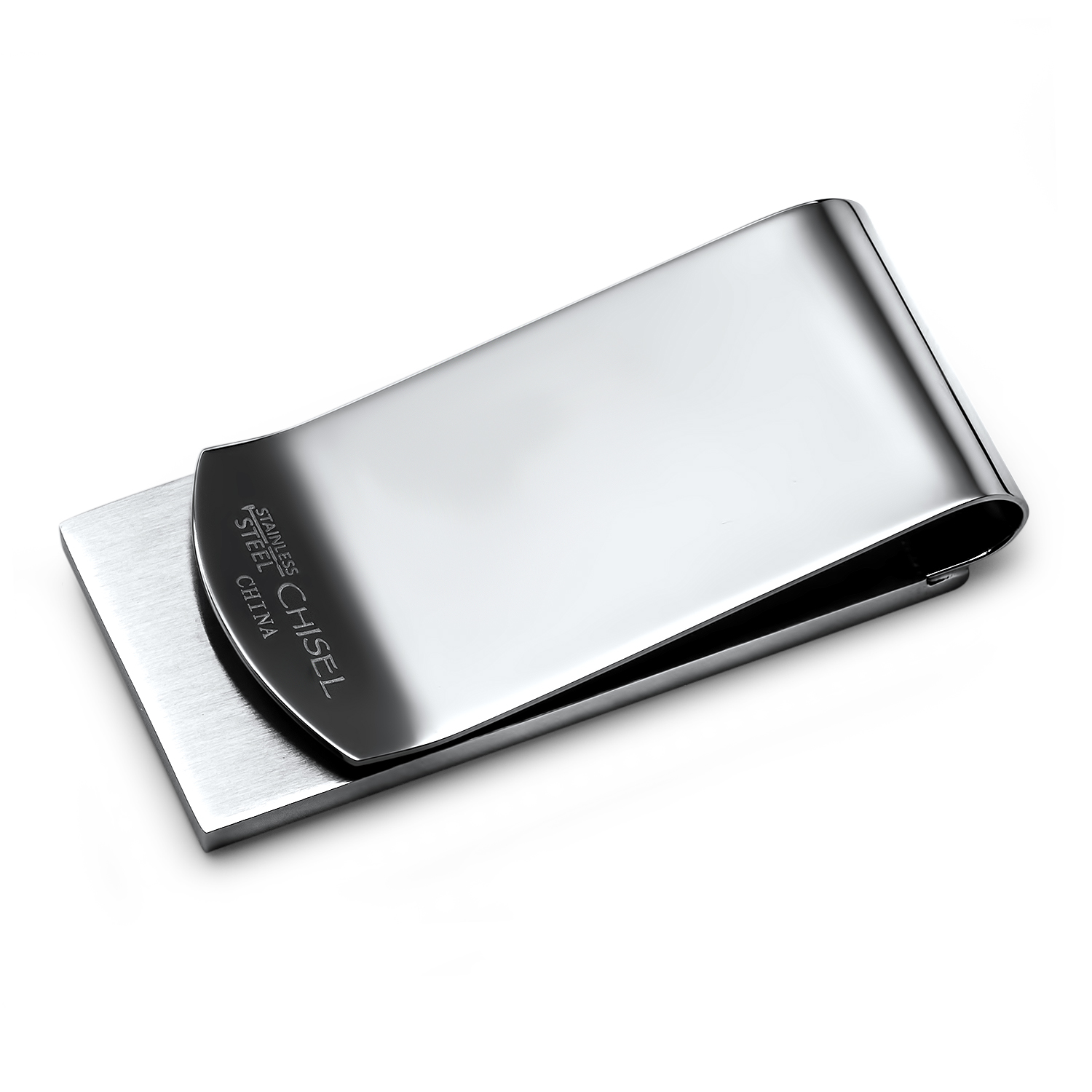 Stainless Steel Brushed Black Stingray Money Clip