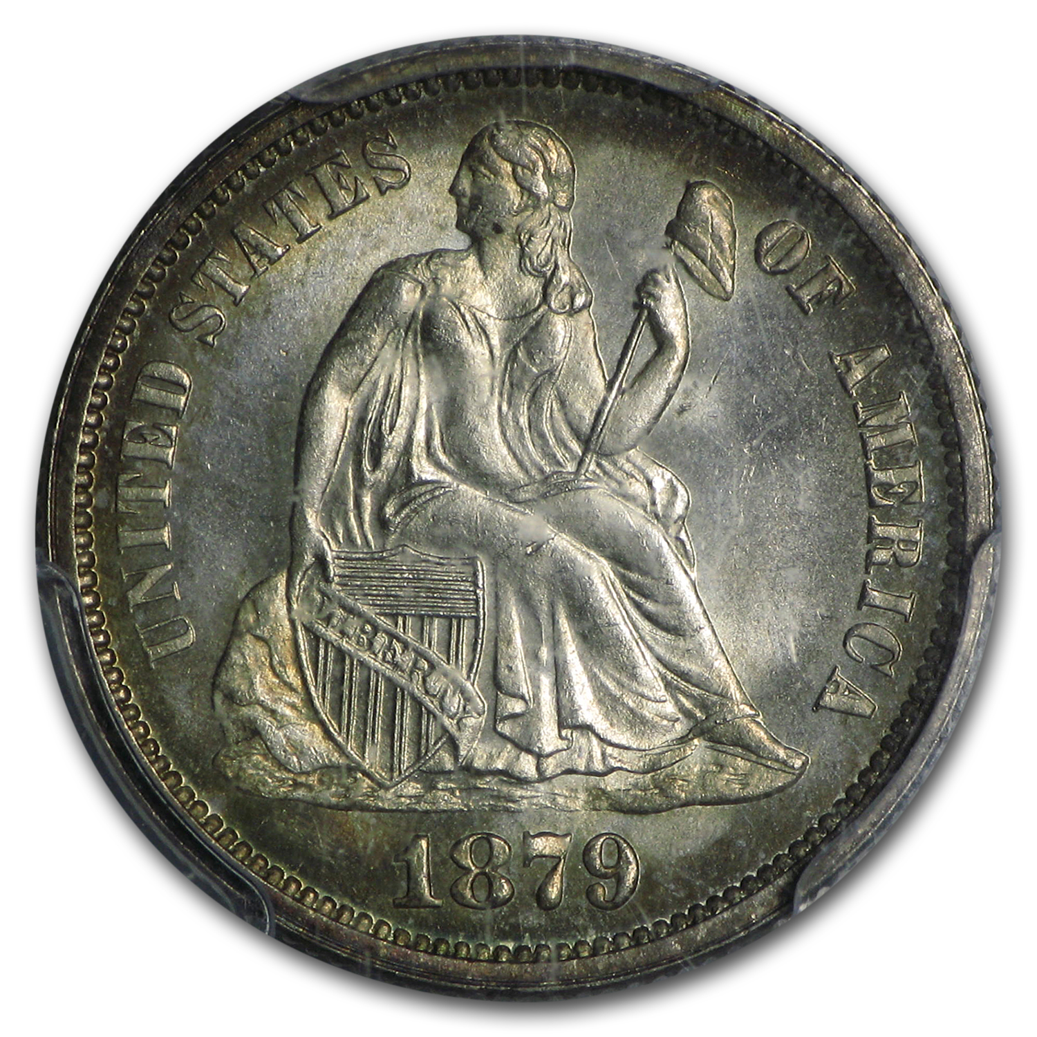 1879 Liberty Seated Dime MS-65 PCGS