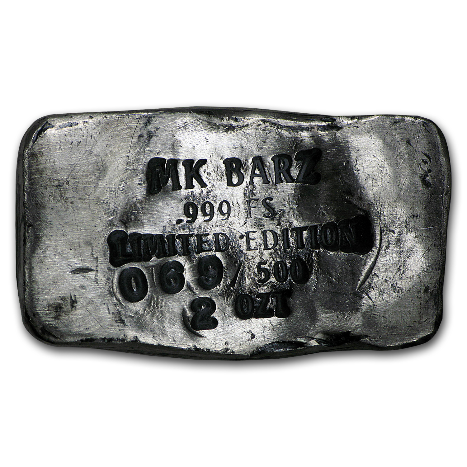 2 oz Silver Bar - Pirate Skull (Limited Edition, Jolly Roger)