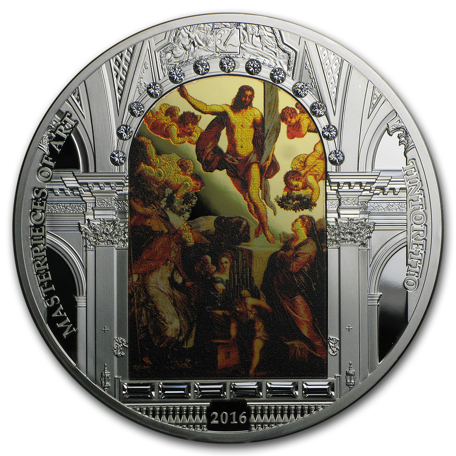 2016 Cook Islands 3 oz Silver The Resurrection of Jesus Proof