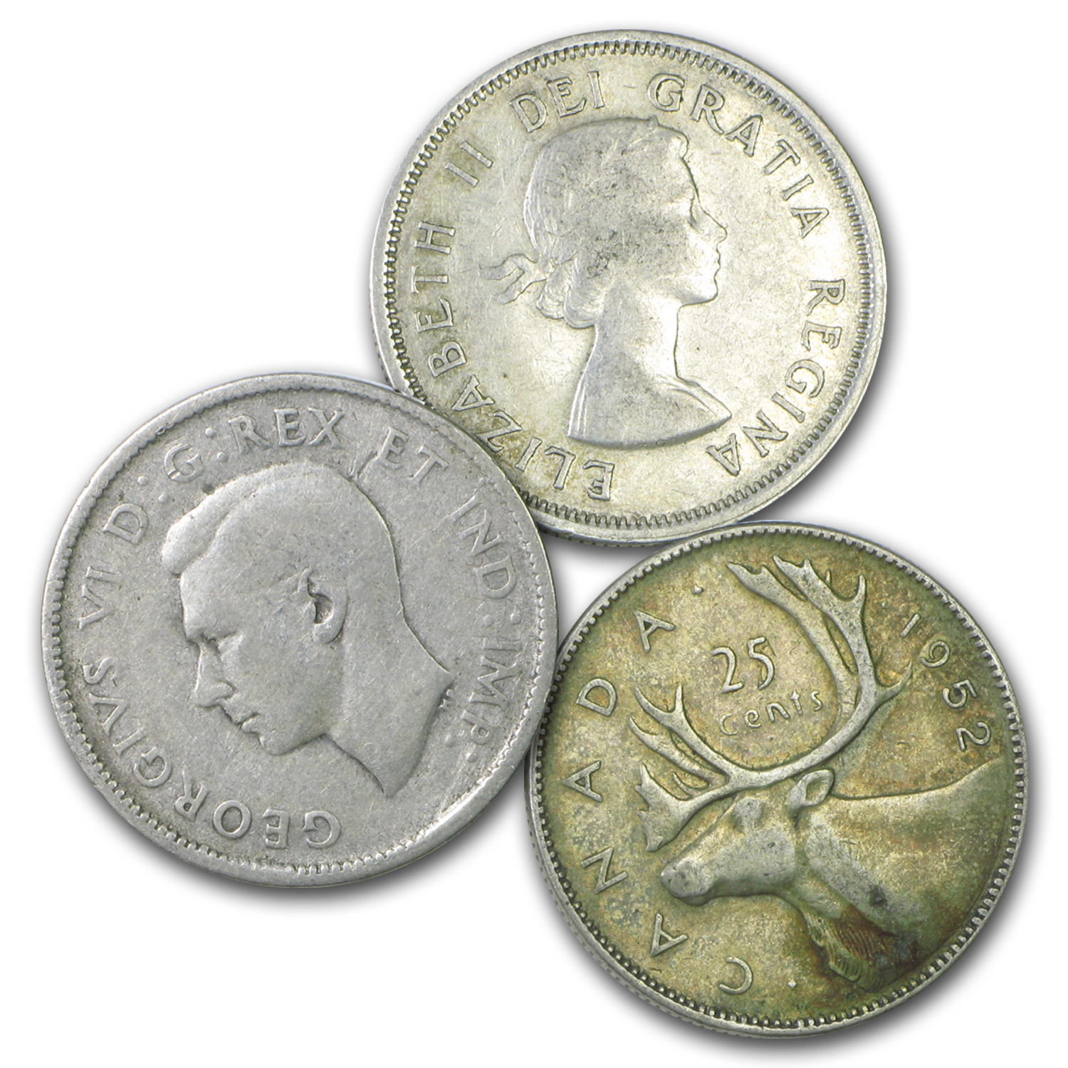 Canada 80% Silver Coins - $1 CAD Face Value Avg Circ