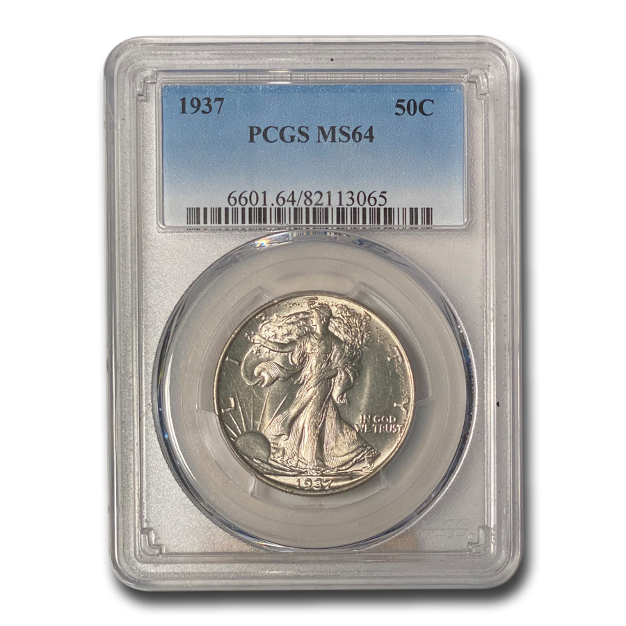 1937 Walking Liberty Half Dollar MS-64 PCGS
