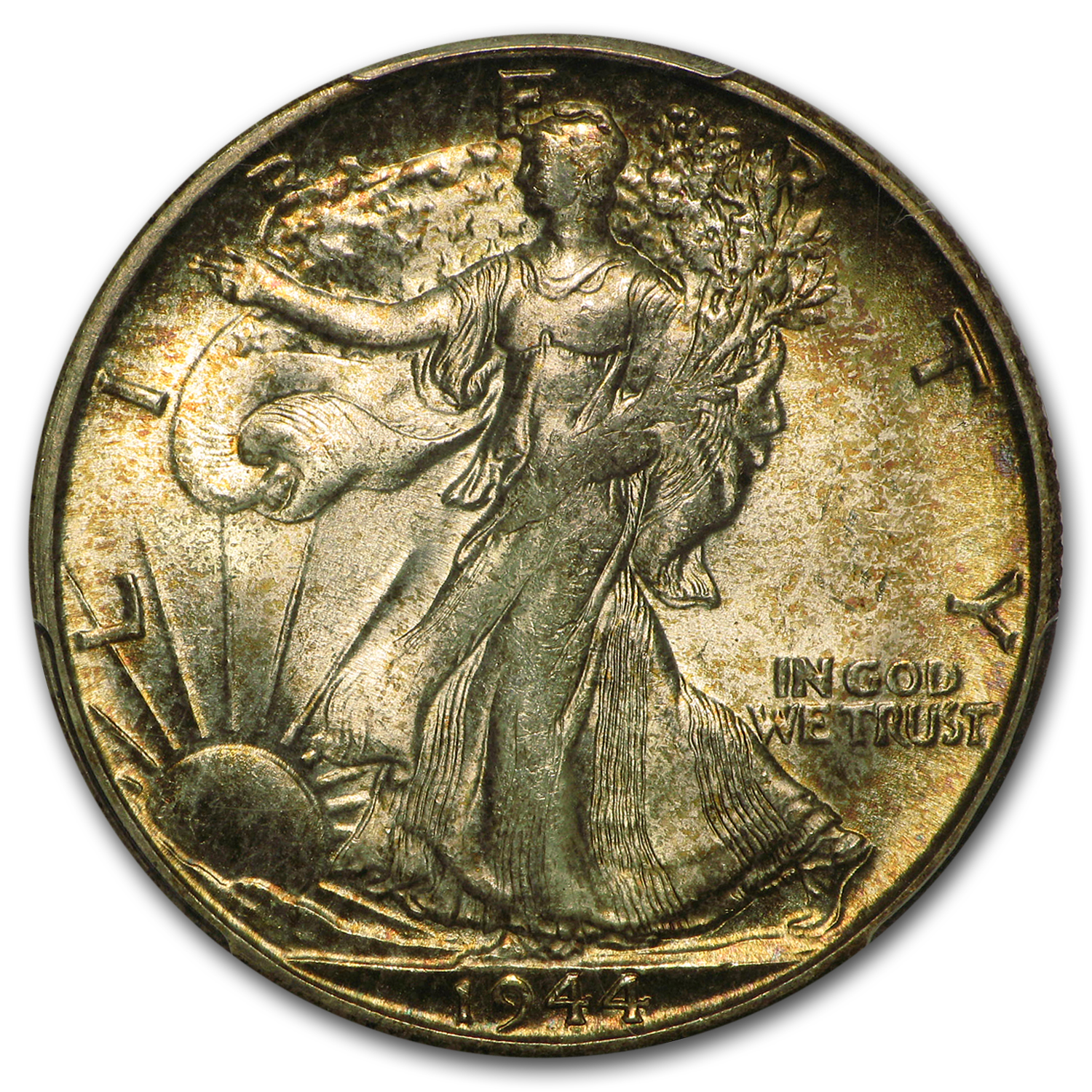 1944-S Walking Liberty Half Dollar MS-65 PCGS (Beautiful Toning)
