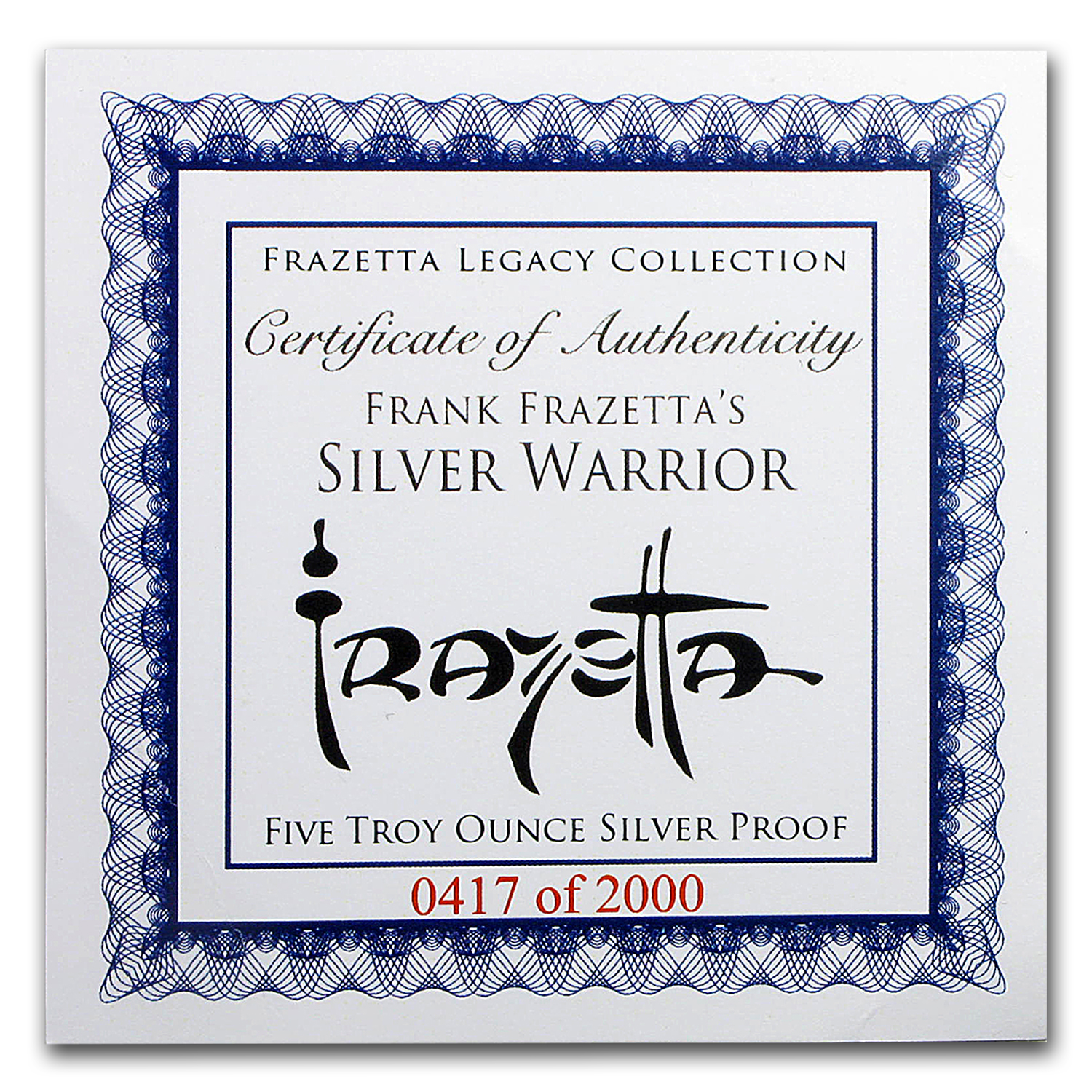 5 oz Silver Proof Round - Frank Frazetta (Silver Warrior)