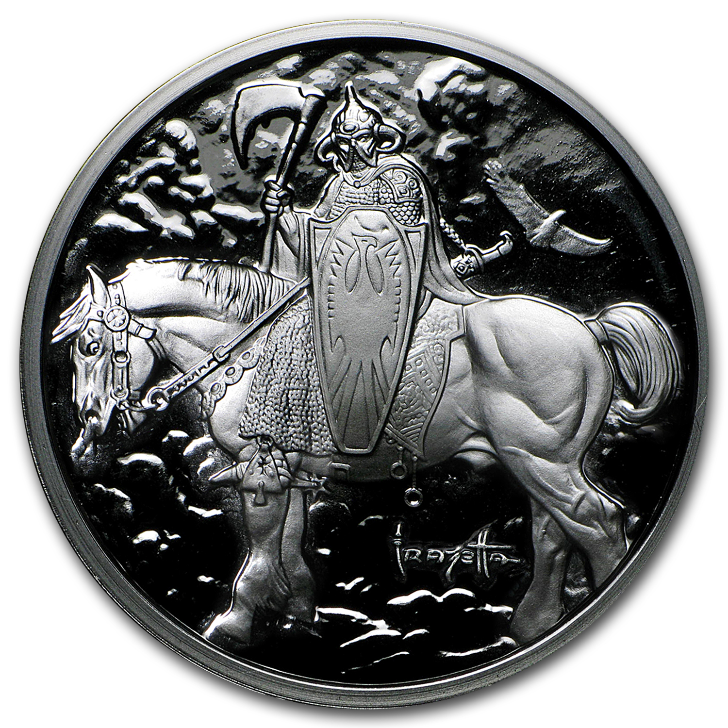 1 oz Silver Proof Round - Frank Frazetta (Death Dealer)