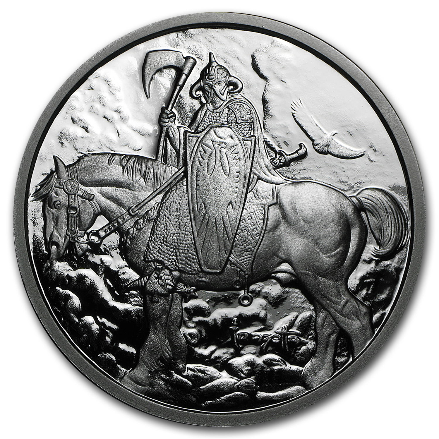 5 oz Silver Proof Round - Frank Frazetta (Death Dealer)
