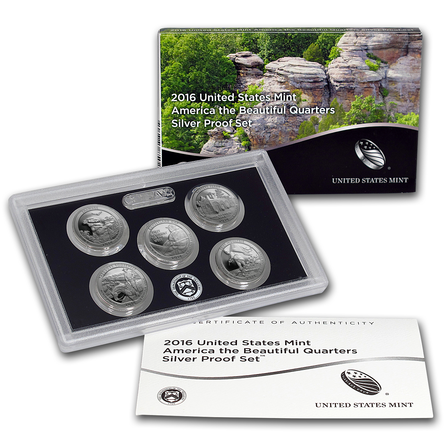 2016 America the Beautiful Quarters Silver Proof Set