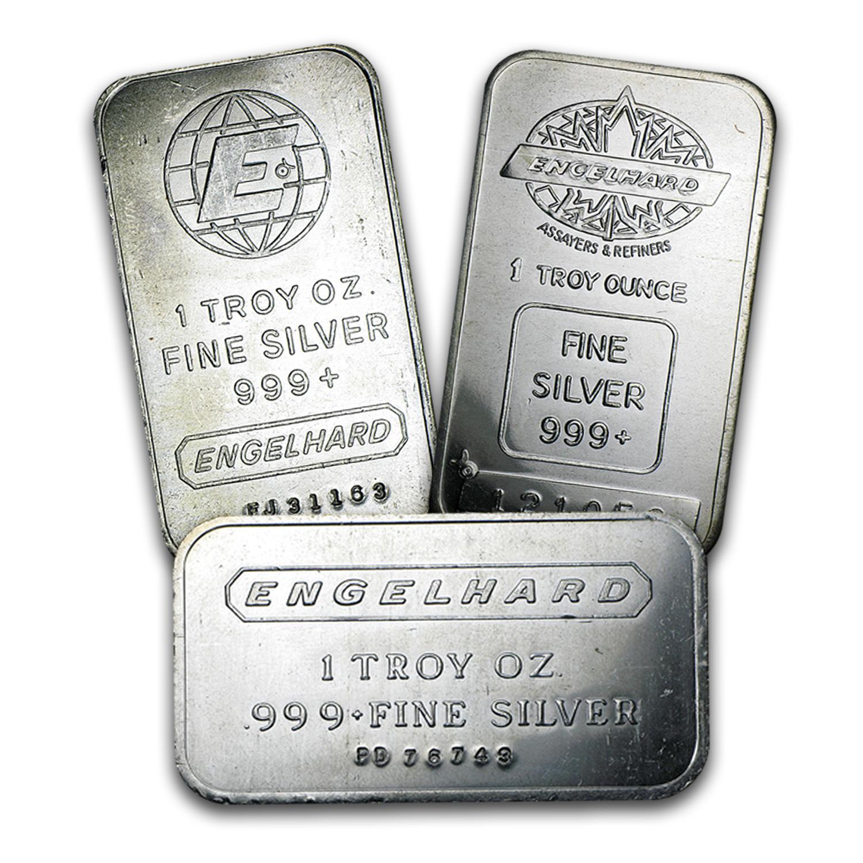 1 Oz Silver Bar Engelhard 1 Oz Silver Bars Apmex