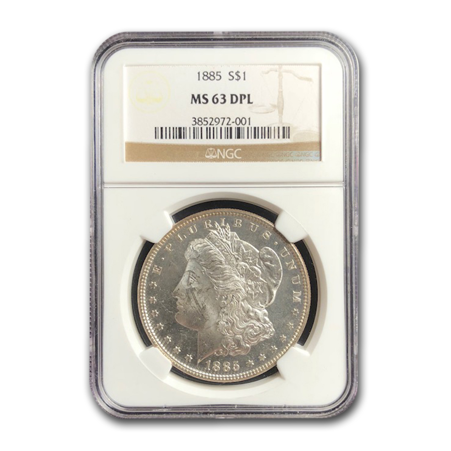 1885 Morgan Dollar MS-63 DPL NGC