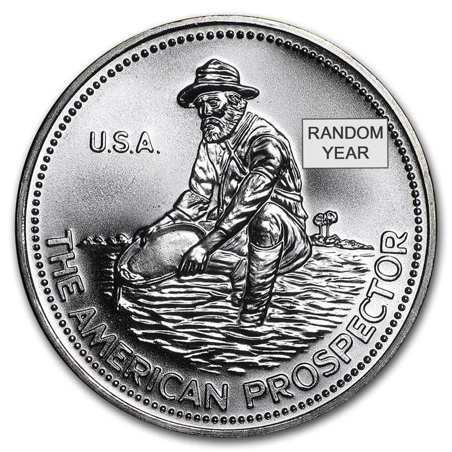 1 Oz Silver Round Engelhard Prospector 1 Oz Silver