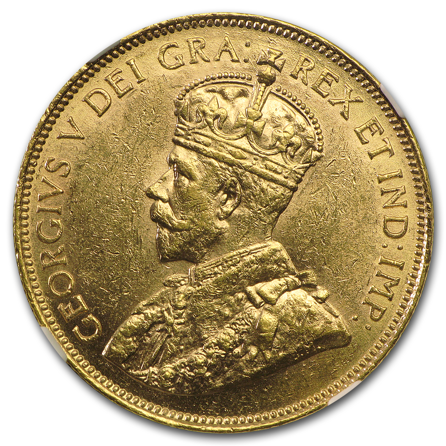1913 Canada Gold $10 AU-58 NGC