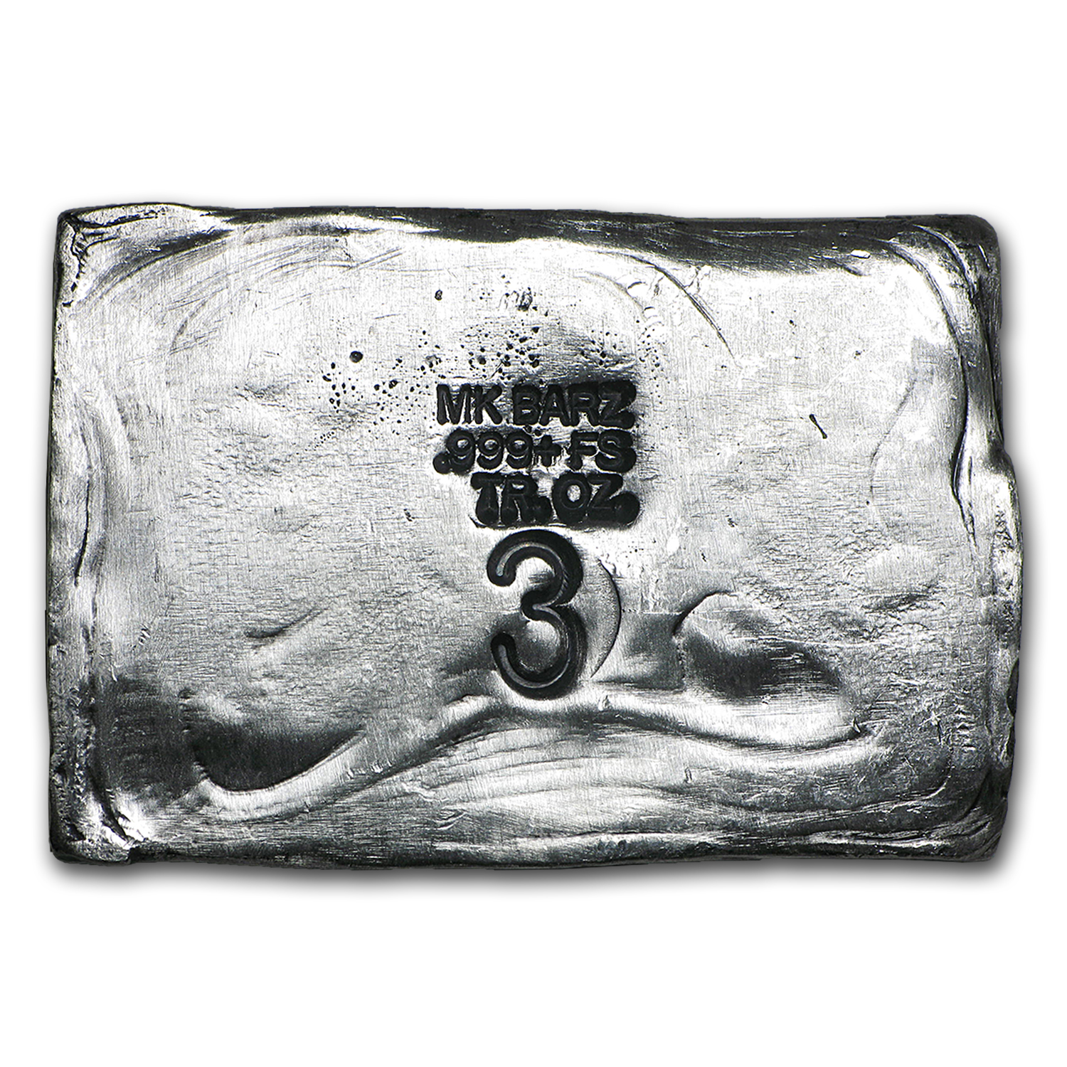 3 oz Silver Bar - Pirate Skull (Limited Edition, Jolly Roger)
