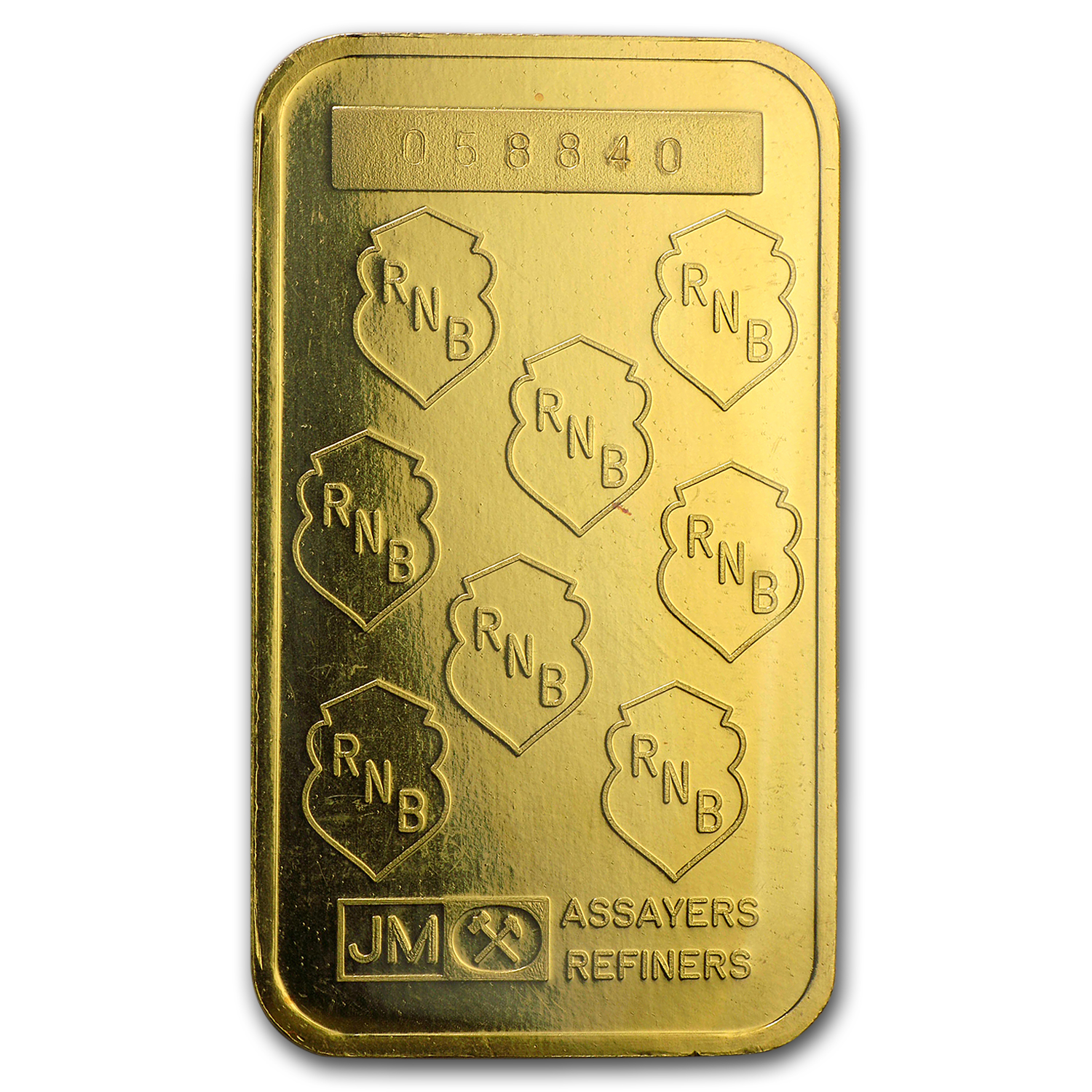 1 oz Gold Bar - Johnson Matthey (RNB, w/Assay Card)