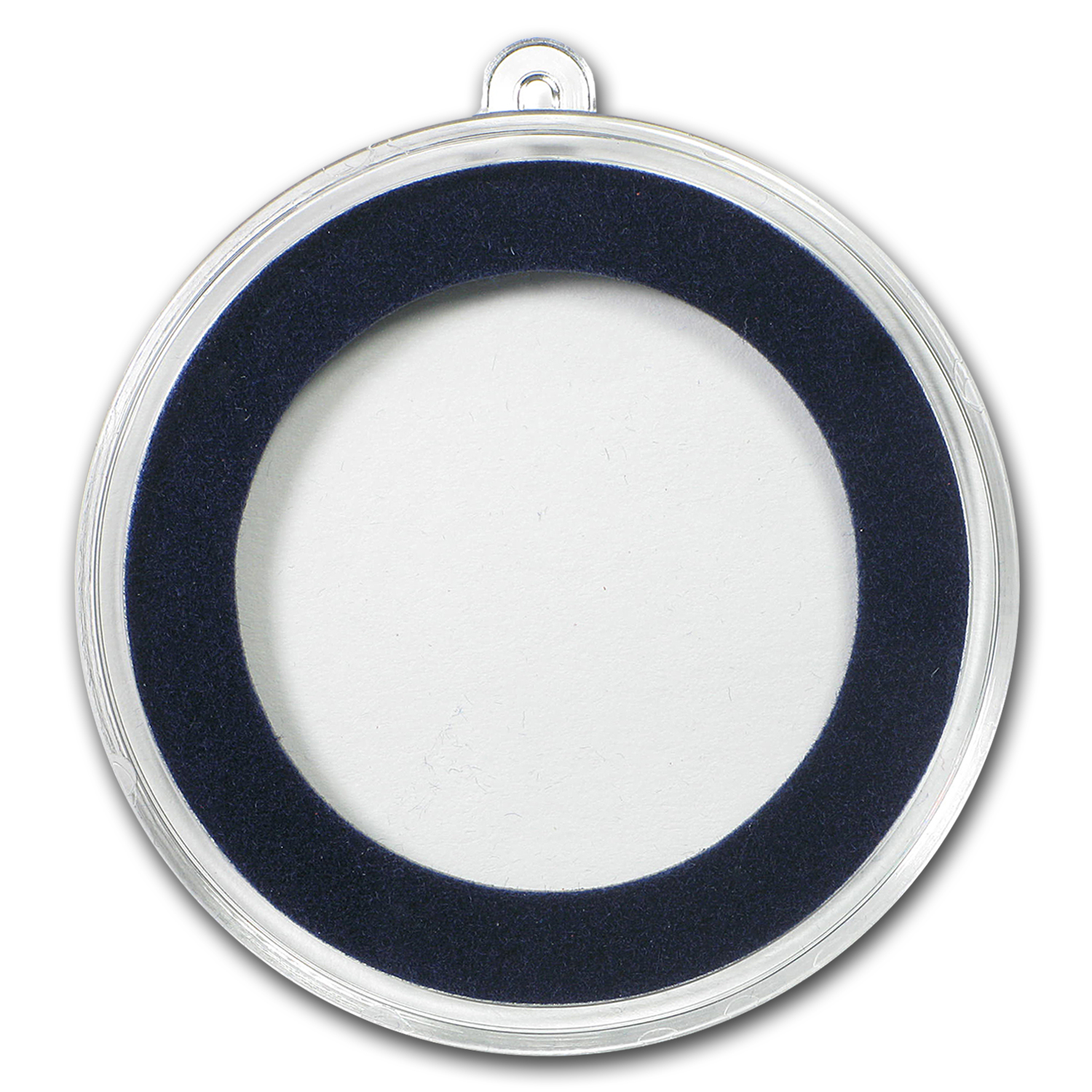 Ornament Capsule for Silver Rounds - 34mm (Dark Blue Ring)