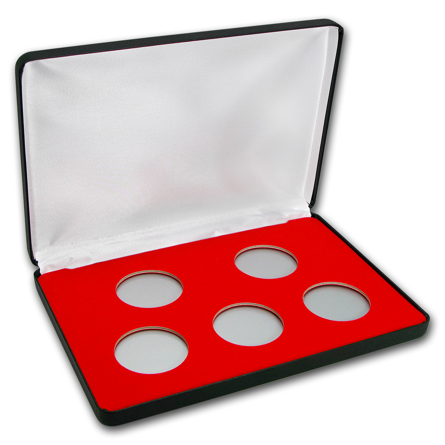 5 Coin Wood Presentation Box - Air-Tite Capsules (H-Style)