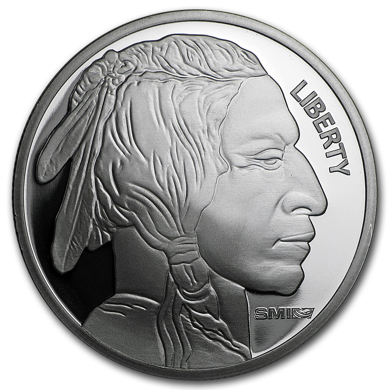 1 Oz Silver Round Buffalo Sunshine Mint 1 Oz