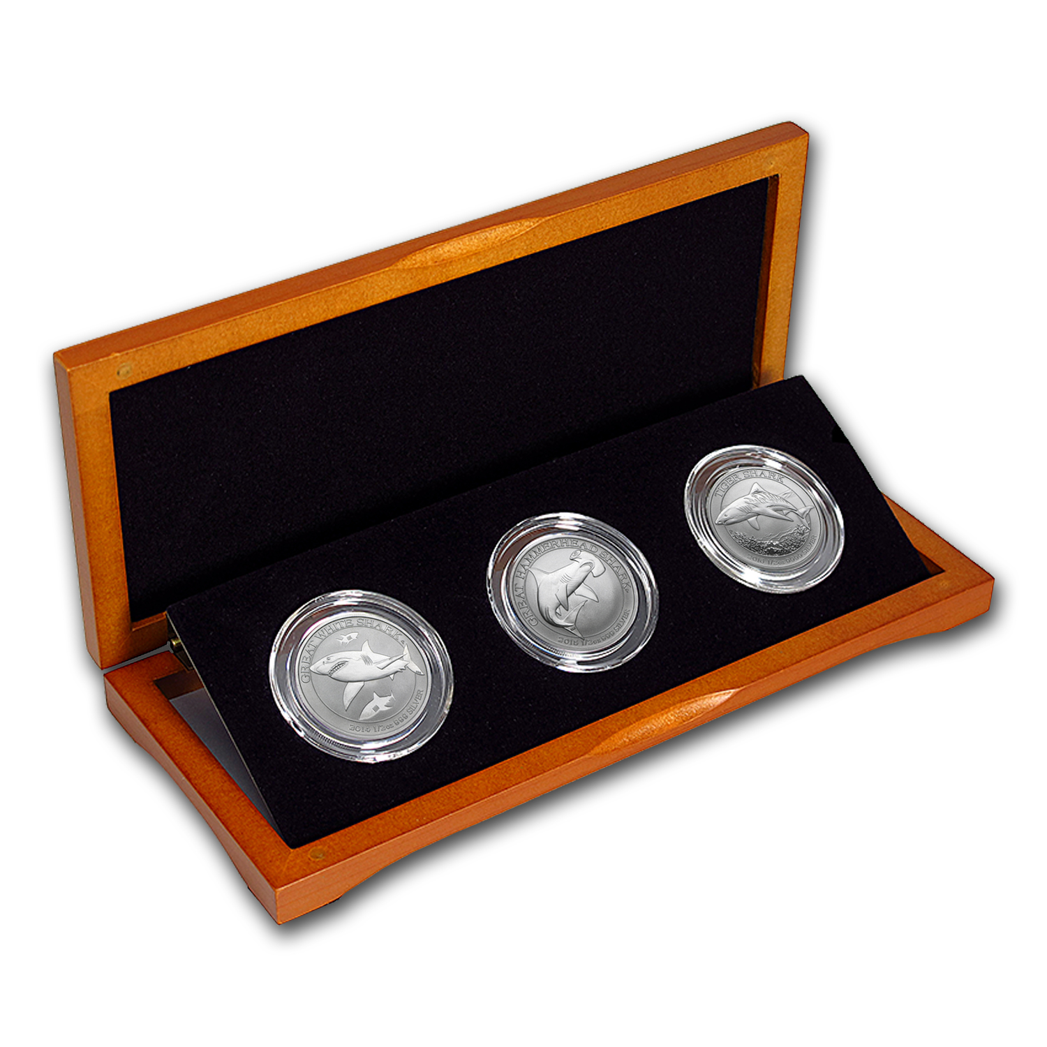 2014-2016 Australia 1/2 oz Silver Shark Series 3-Coin Set (BU)