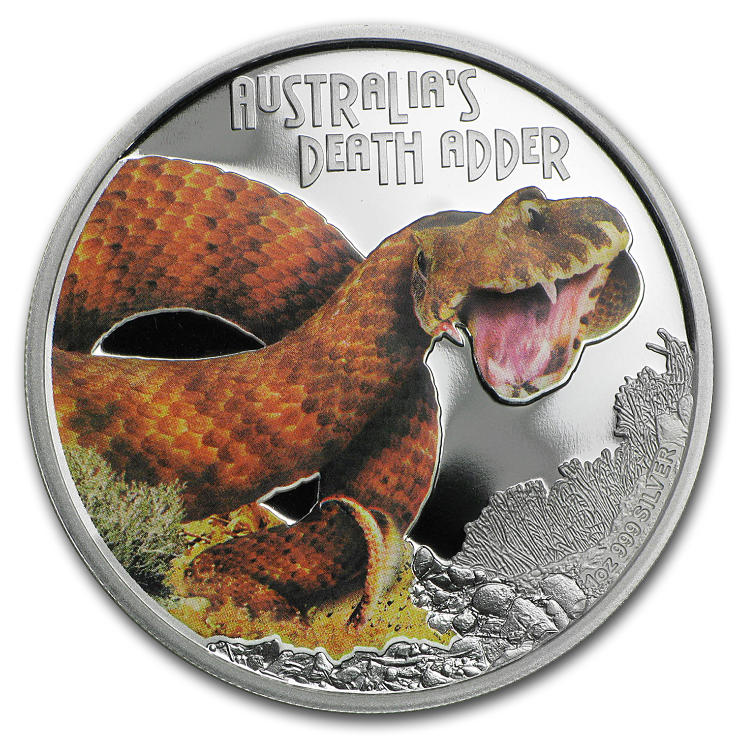 2016 Tuvalu 1 oz Silver Death Adder Proof