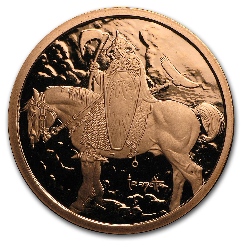 1 Oz Copper Round Frank Frazetta Silver Warrior