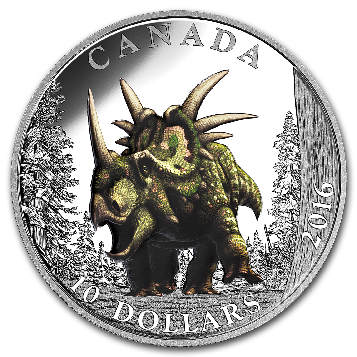 2016 Canada 1/2 oz Silver $10 Day of Dinosaurs: Spiked Lizard