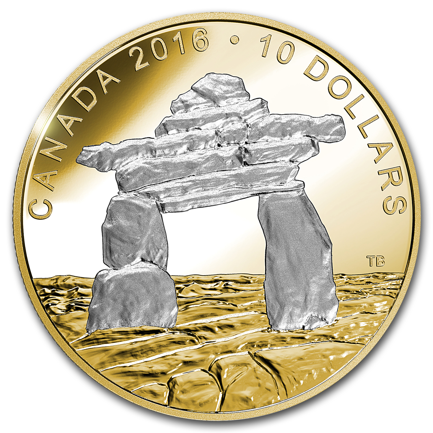 2016 Canada 1/2 oz Silver $10 Proof Iconic Canada Inukshuk