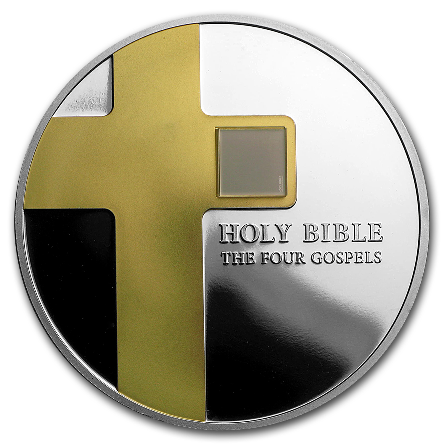2016 Cook Islands 1 oz The Holy Bible (Four Gospels on Nano Chip)