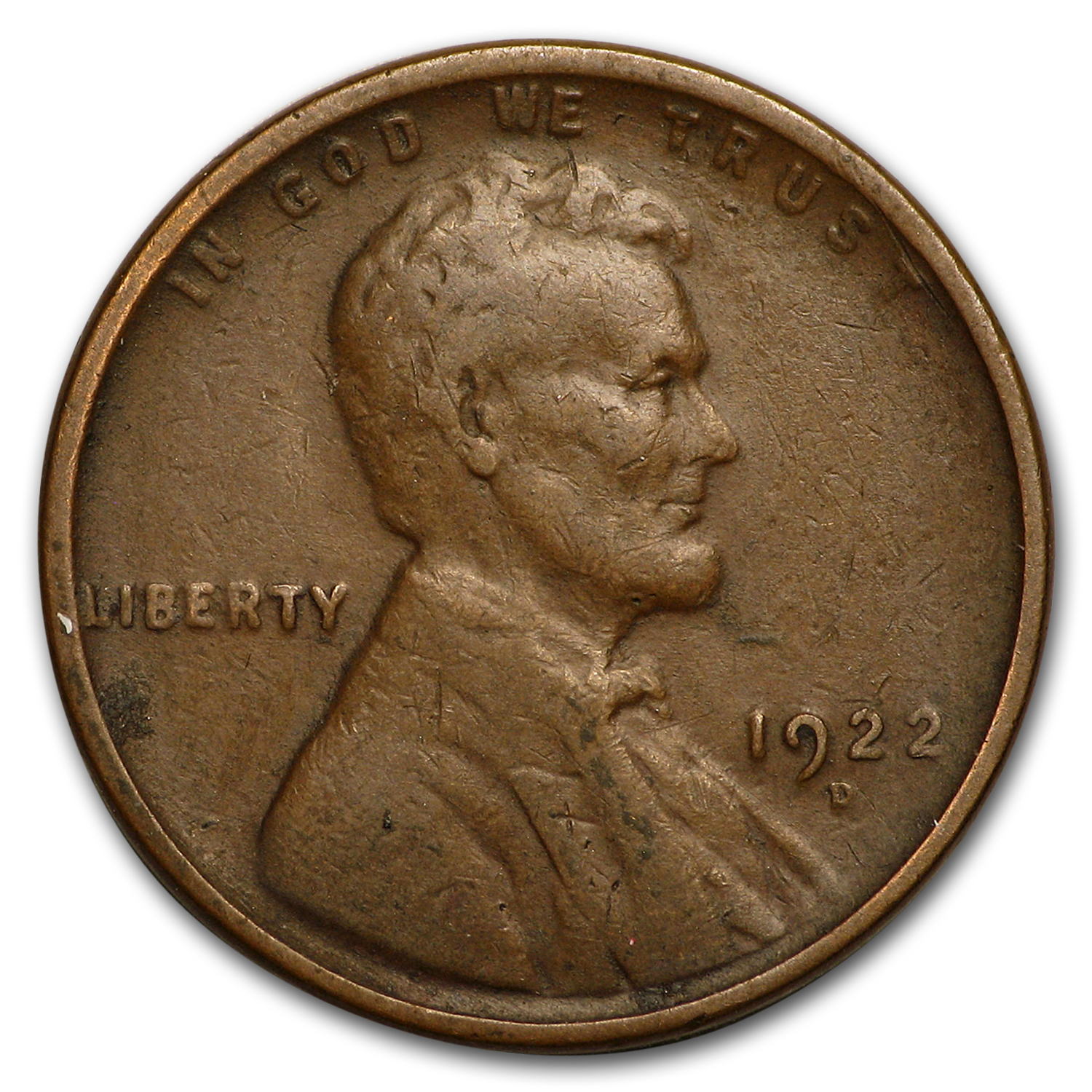 1922-D Lincoln Cent Good/VG