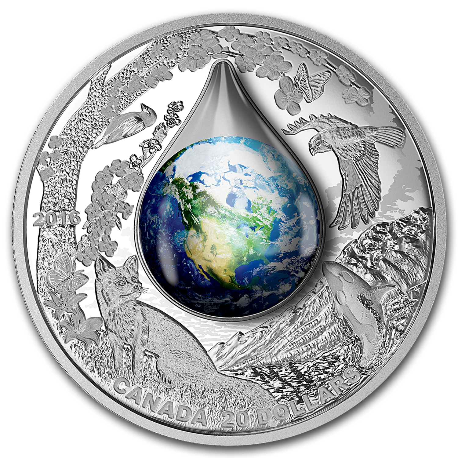 2016 Canada 1 oz Silver $20 Proof Mother Earth