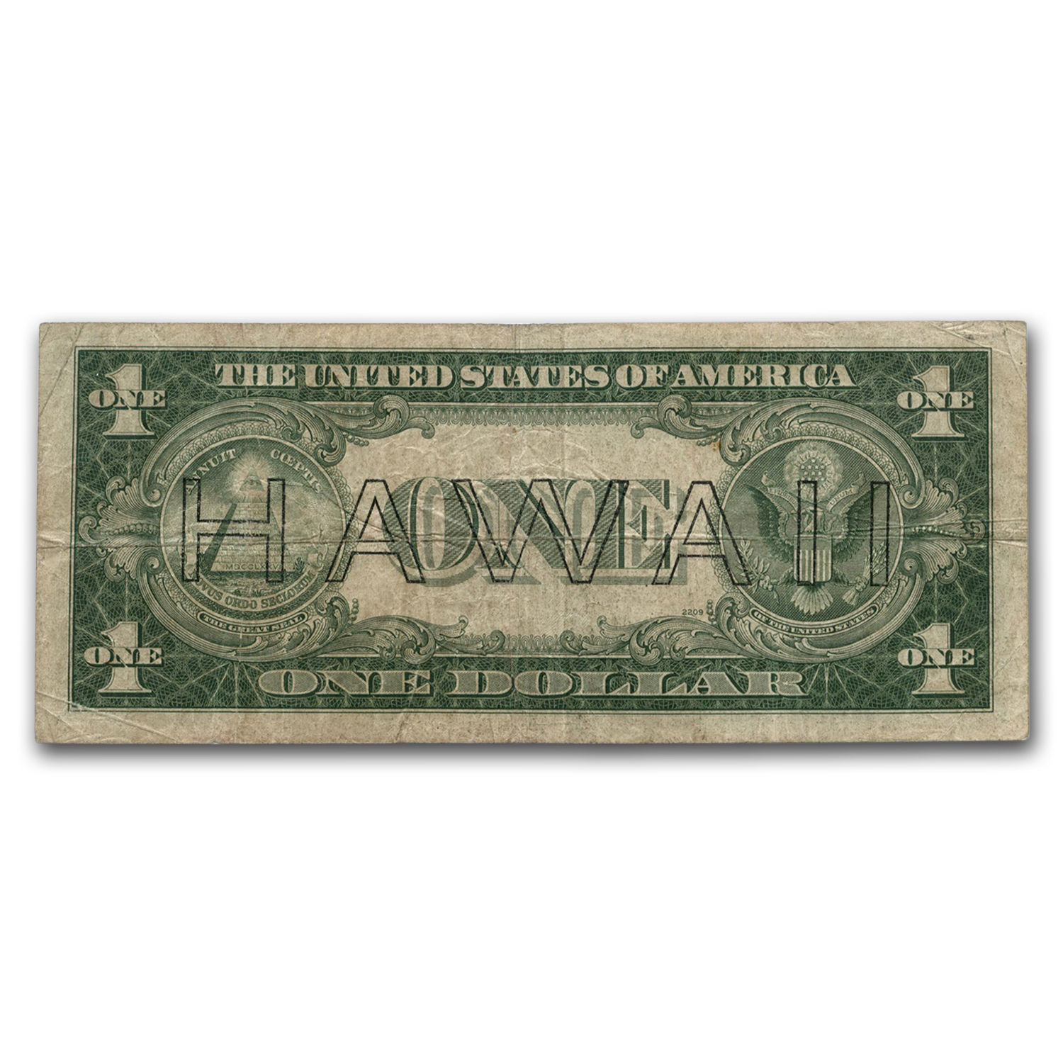 1935-A* $1.00 Brown Seal Hawaii Fine (Star Note)