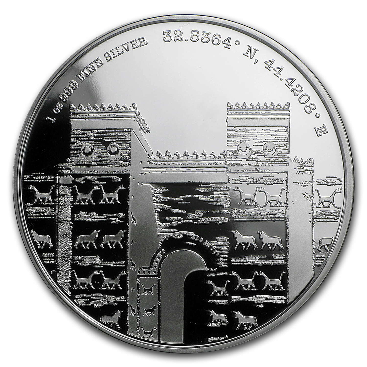 2016 Niue Proof 1 oz Silver Forgotten Cities Babylon