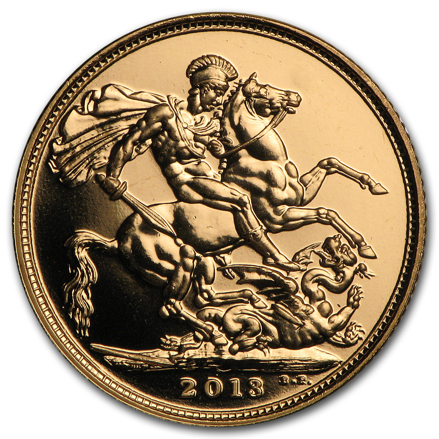 2013 Great Britain Gold Sovereign Royal Birth BU