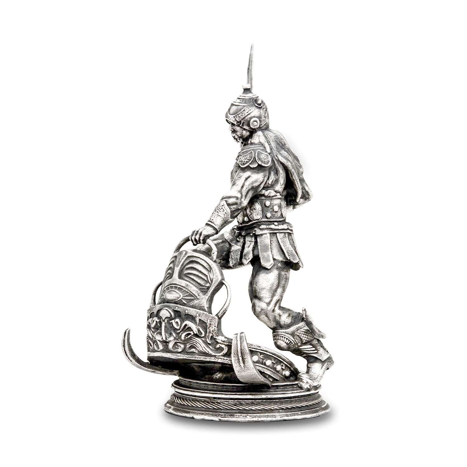 8 oz Silver Antique Statue - Frank Frazetta (Silver Warrior)