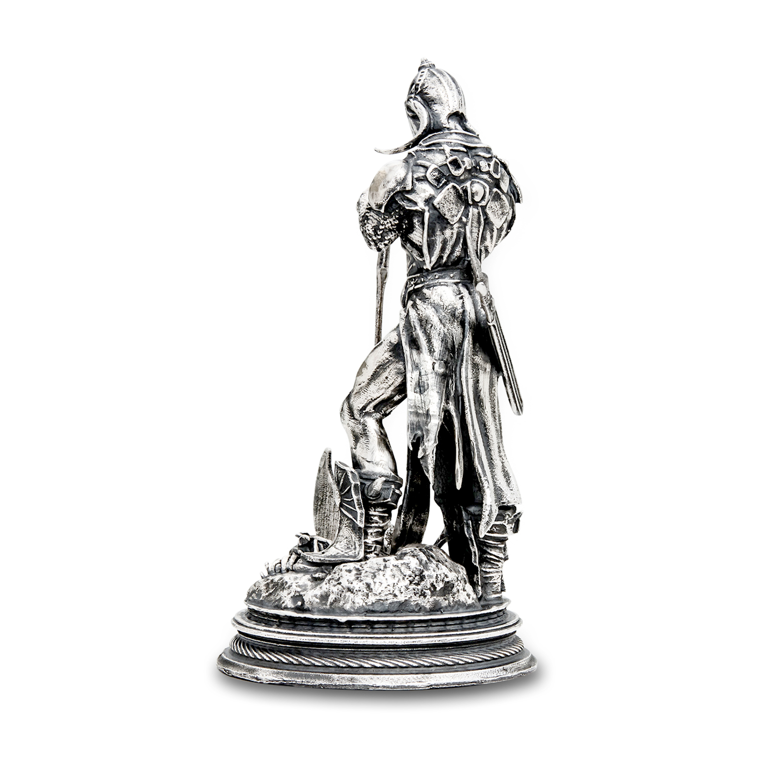 6 oz Silver Antique Statue - Frank Frazetta (Death Dealer III)