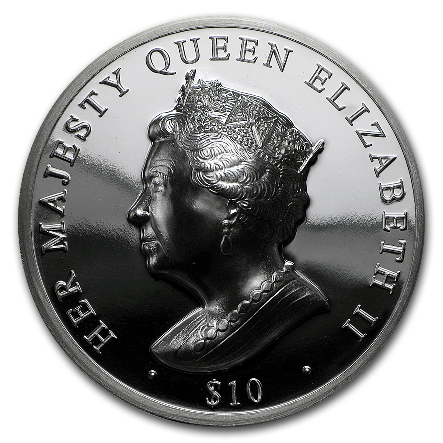 2016 BVI $10 Queen's Double Head Piedfort (Ultra High Relief)