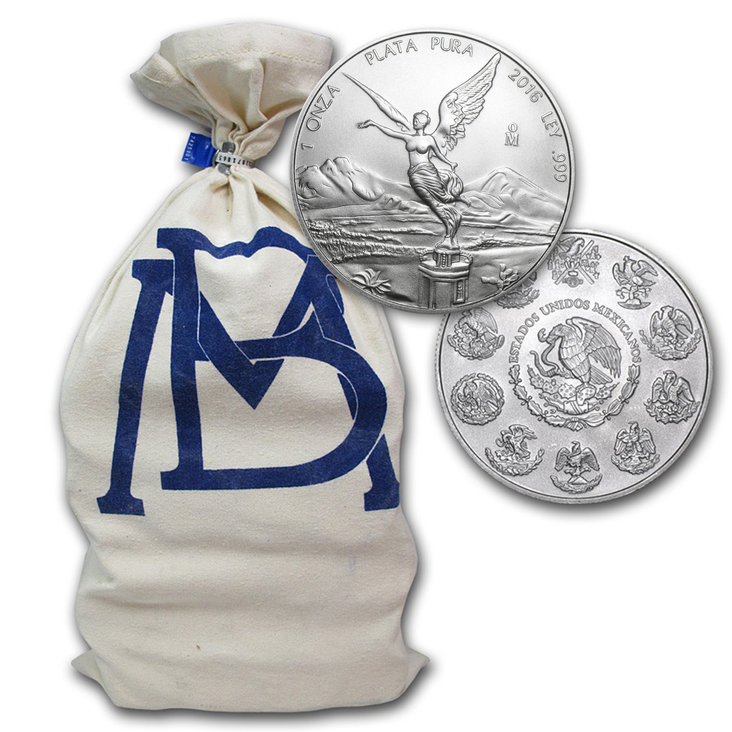 2016 Mexico 1 oz Silver Libertad (450-Coin Original Bank Bag)