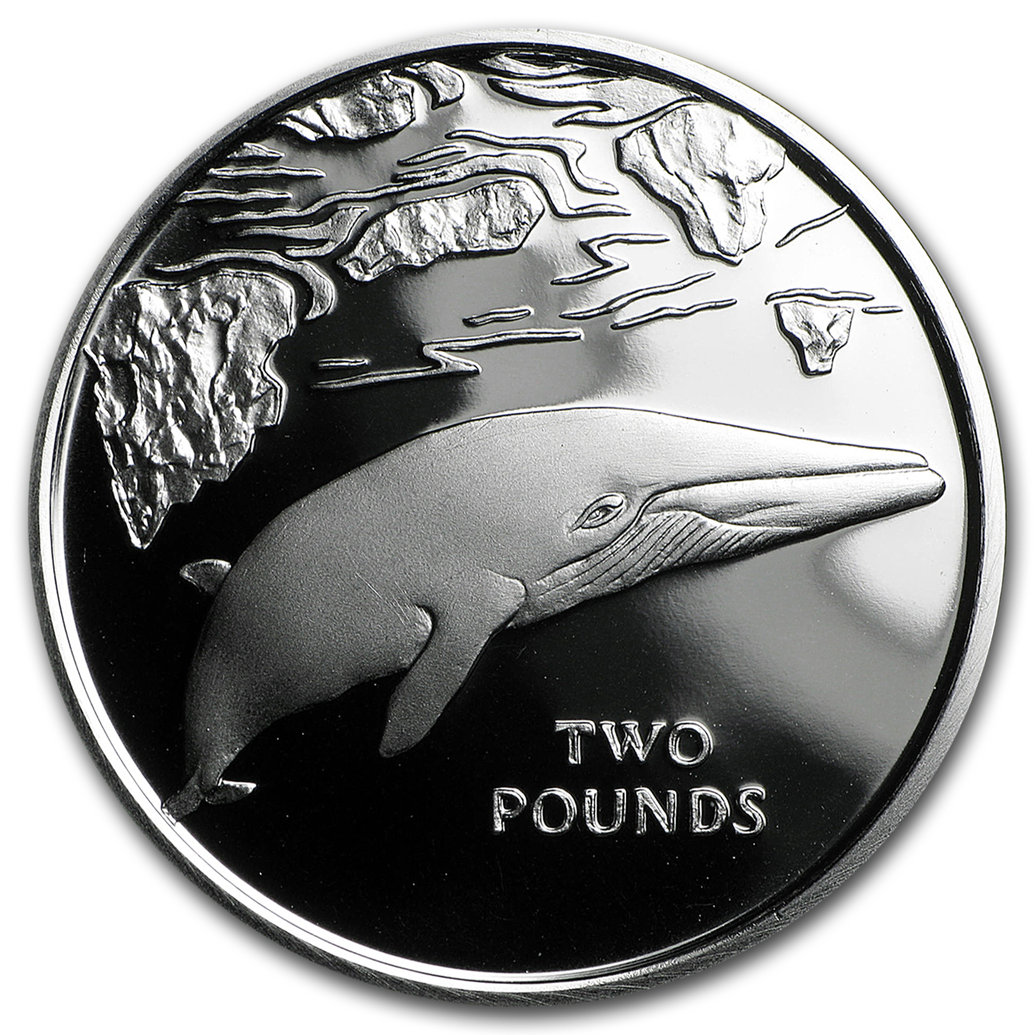 2016 South Georgia Silver £2 Minke Whale Proof