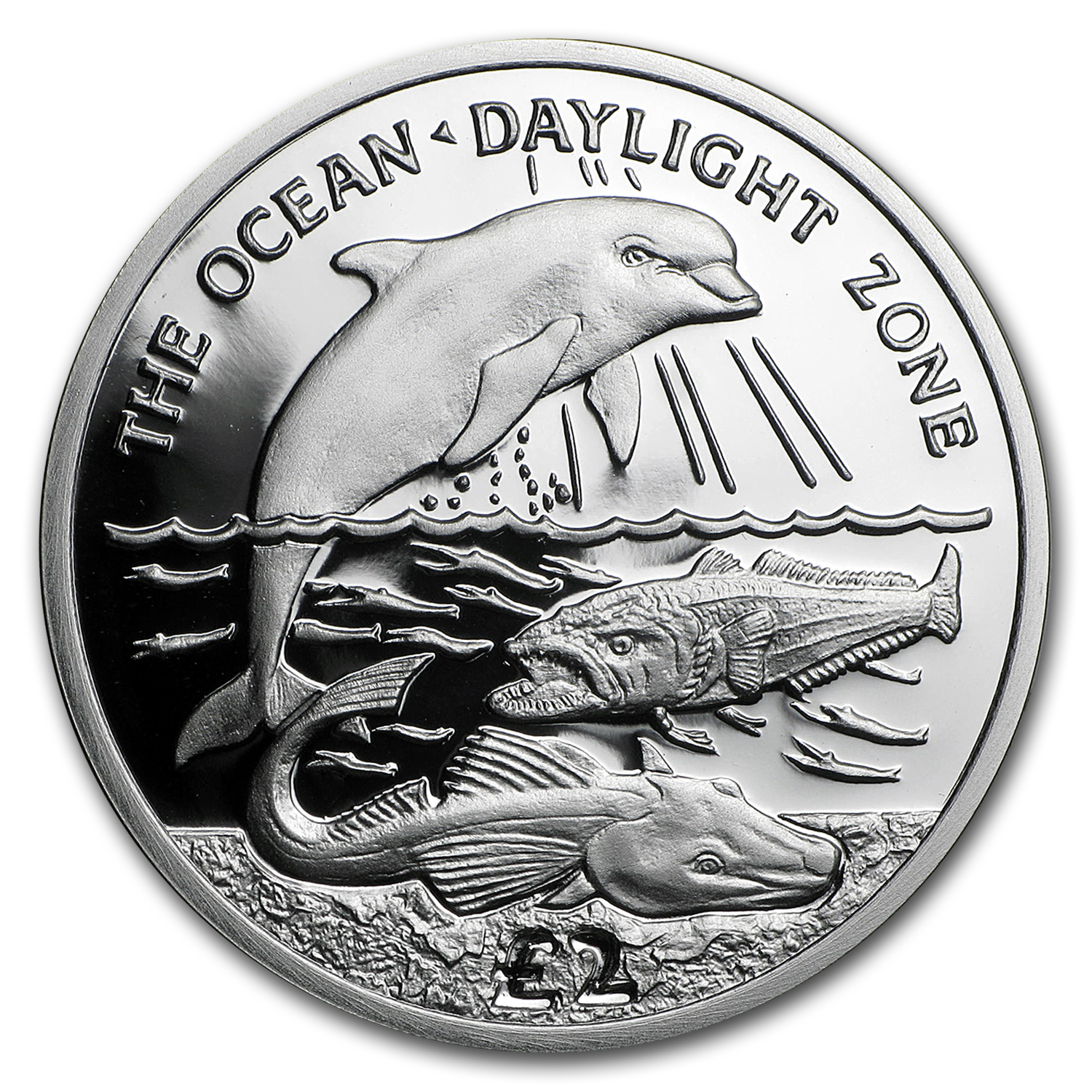 2016 BVI Silver £2 Ocean Zones: Daylight Proof