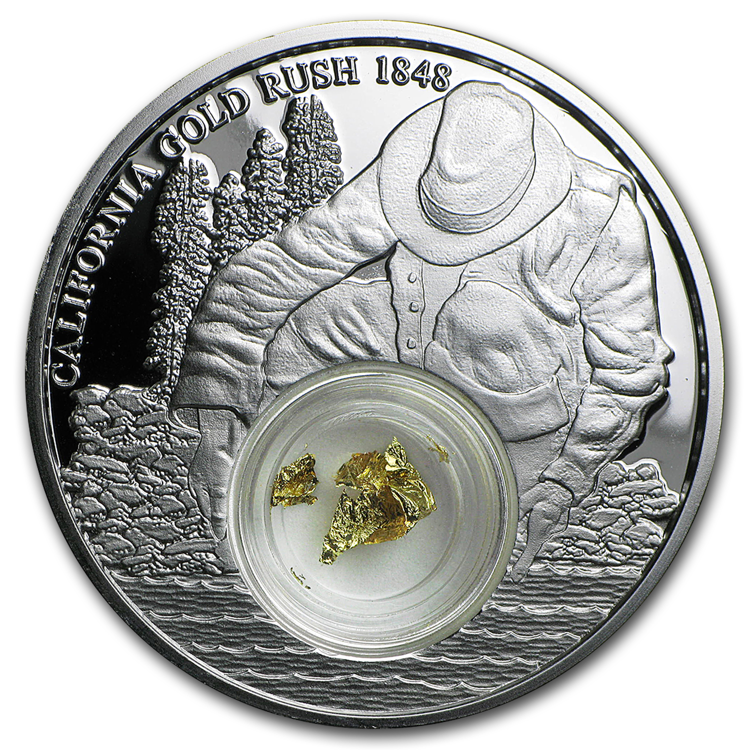 2016 Niue 1 oz Silver California Gold Rush Proof