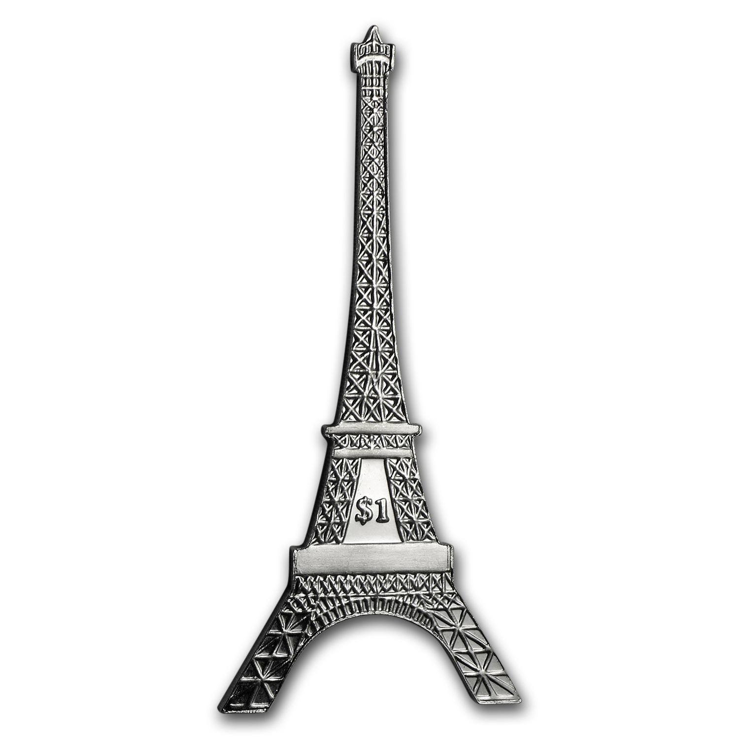 2014 BVI Cupro-Nickel $1 125th Anniv Eiffel Tower