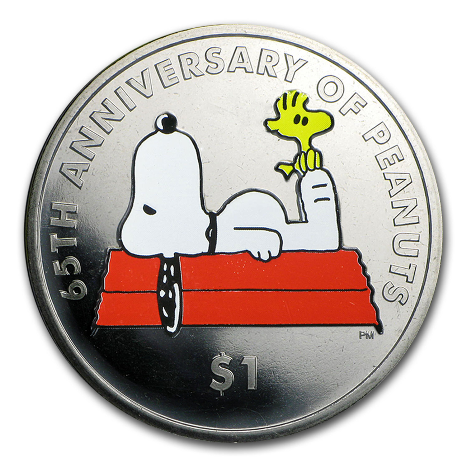 2015 British Virgin Islands Cupro-Nickel $1 65th Anniv of Peanuts