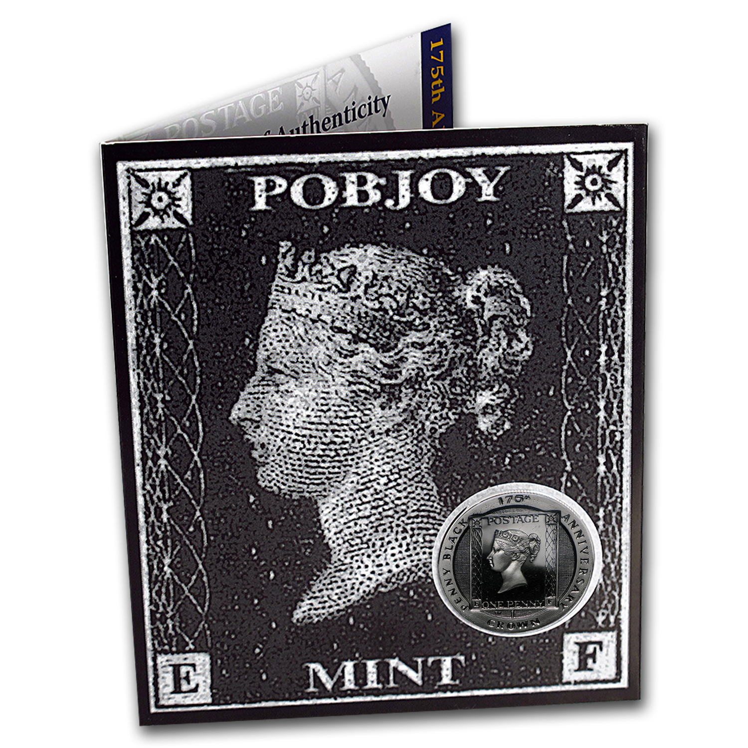 2015 Isle of Man Cupro-Nickel 1 Crown 175th Anniv Penny Black