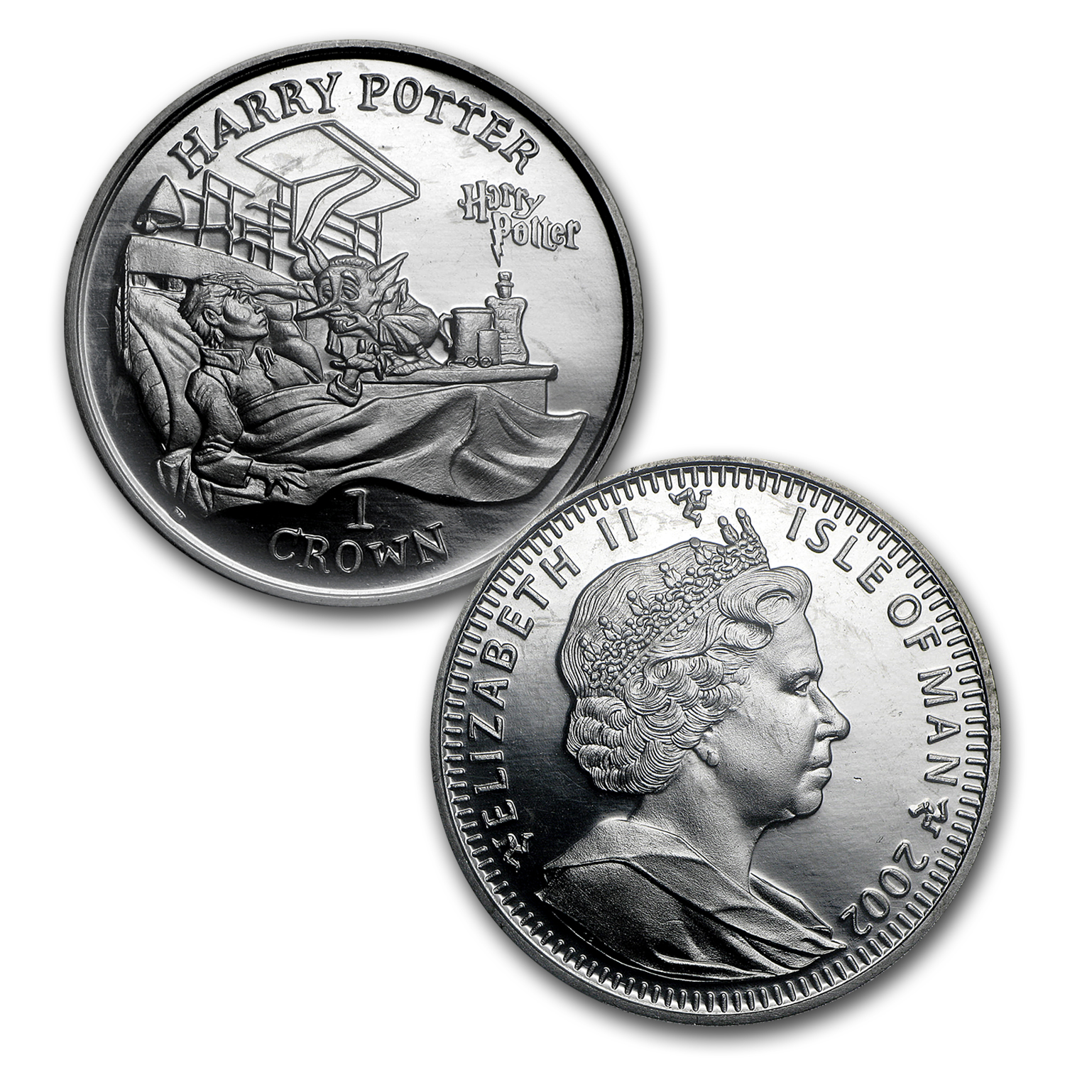 2002 Isle of Man Cupro-Nickel 1 Crown Harry in the Hospital