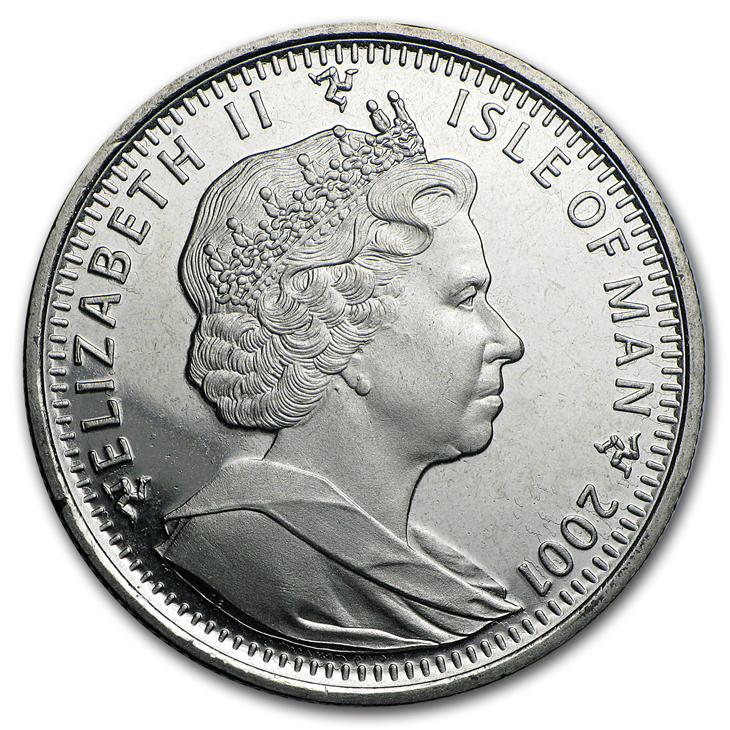 2001 Isle of Man Cupro-Nickel 1 Crown Harry Casting a Spell