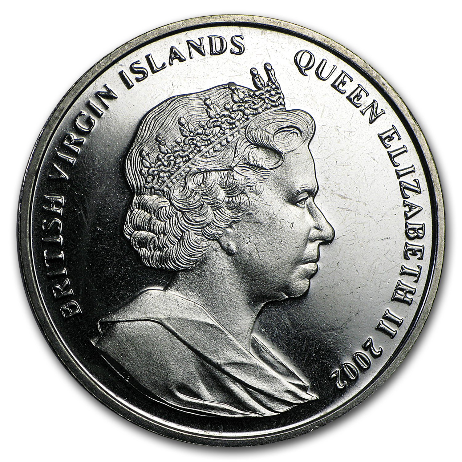 2002 British Virgin Islands Cupro-Nickel 1 Crown Princess Diana