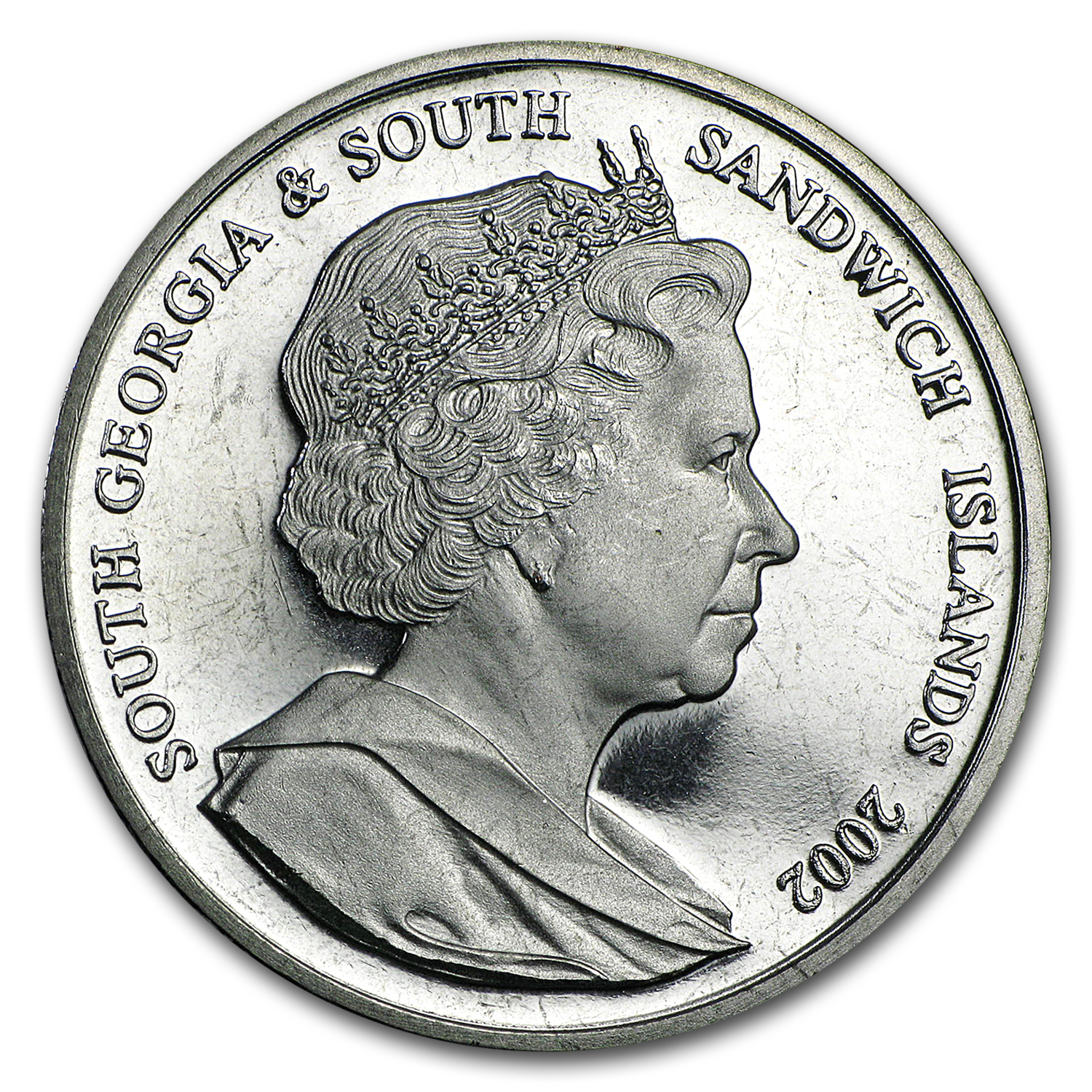 2002 South Georgia Cupro-Nickel 1 Crown Princess Diana