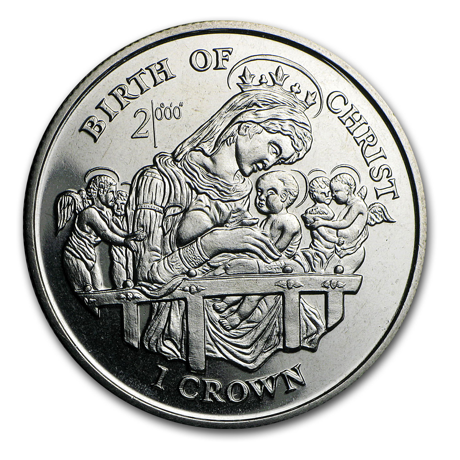 1997 Isle of Man Cupro-Nickel 1 Crown Birth of Christ